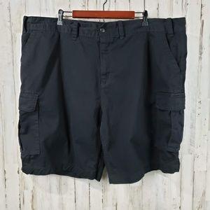 The Foundry Mens Shorts Black Six Pocket Cargo